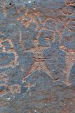 petroglyph s Royaltyfri Fotografi