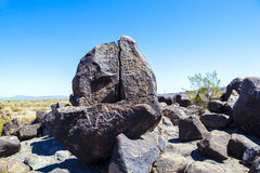 Petroglyph Site near Gila Bend, Arizona Stock Photo