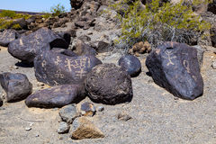 Petroglyph Site, Near Gila Bend. Arizona Royalty Free Stock Images