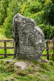 Petroglyph som finnas i högländer, Scontland Arkivfoto