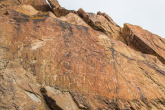 The Petroglyph on Tamgaly-Tas, Kazakhstan royalty free stock images