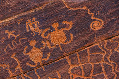 Petroglyph Turtles Stock Photography