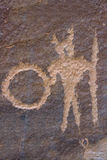 Petroglyph warrior Royalty Free Stock Image