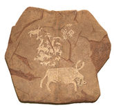 petroglyphe времени бронзовое Стоковое Изображение RF