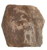 petroglyphe времени бронзовое Стоковые Фотографии RF
