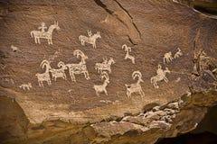 Petroglyphe Stockbild