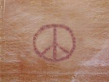 Petroglyphe des Friedens Stockfotos