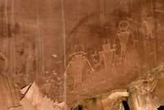 Petroglyphen lizenzfreie abbildung