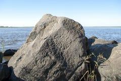 Petroglyphen auf den Felsen lizenzfreie stockfotos