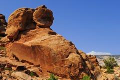 Petroglyphen auf der neun Meilen-Schlucht Lizenzfreies Stockfoto
