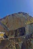 Petroglyphen auf einem Felsen Stockbild