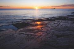 Petroglyphen auf Kap Besov-Nase See Onega Karelien Lizenzfreie Stockfotos