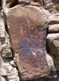 Petroglyphen bei der neun Meilen-Schlucht, Utah Stockfotos