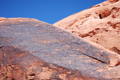 Petroglyphen in der Petroglyphe-Schlucht Stockbild
