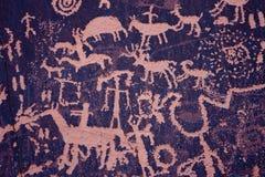Petroglyphen an der Zeitung schaukeln, indischer Nebenfluss, Utah Stockfotografie