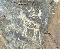 Petroglyphen des späten Bronzezeitalters stockfoto