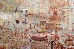 Petroglyphen in Kolumbien stockbilder