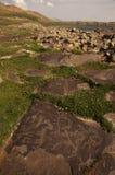 Petroglyphen von Ughtasar, Armenien Lizenzfreie Stockfotos