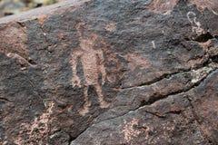Petroglyphs är forntida vaggar teckningar på den irländska kanjonen i Colorado royaltyfri bild