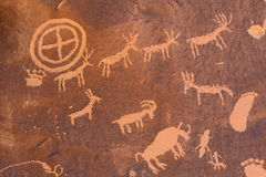 Petroglyphs αμερικανών ιθαγενών Στοκ Φωτογραφία