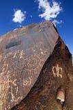 Petroglyphs αμερικανών ιθαγενών Στοκ Εικόνες