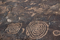 Petroglyphs κορυφογραμμών Anasazi Στοκ φωτογραφία με δικαίωμα ελεύθερης χρήσης