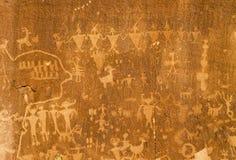Petroglyphs νησιών άμμου στο Bluff, Γιούτα Στοκ εικόνα με δικαίωμα ελεύθερης χρήσης