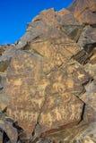 Petroglyphs στην πέτρα Στοκ φωτογραφία με δικαίωμα ελεύθερης χρήσης