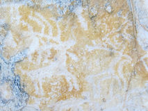 Petroglyphs στη λίμνη Baikal Στοκ Εικόνες