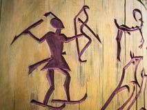 Petroglyphs στο δέντρο Στοκ φωτογραφία με δικαίωμα ελεύθερης χρήσης