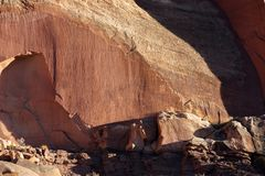Petroglyphs στο σκόπελο Capitol Στοκ Εικόνες