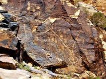 Petroglyphs της Gap Parowan στη Γιούτα Στοκ Εικόνες