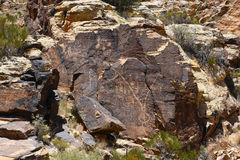 Petroglyphs της Gap Parowan Στοκ φωτογραφία με δικαίωμα ελεύθερης χρήσης