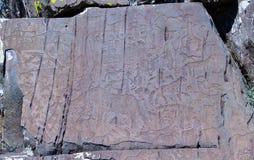 Petroglyphs της kalbak-Tash σε Altai, Σιβηρία στοκ εικόνες με δικαίωμα ελεύθερης χρήσης