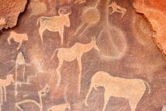 petroglyphs Στοκ Εικόνα