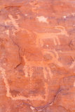 Petroglyphs Fotografering för Bildbyråer