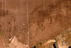 petroglyphs royaltyfri illustrationer