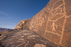 Petroglyphs of Anasazi Canyon Royalty Free Stock Photo