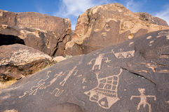 Petroglyphs of Anasazi Canyon Stock Photography