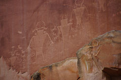 Petroglyphs of the Anasazi Native American people Royalty Free Stock Photo