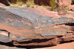Petroglyphs ancient paintings Royalty Free Stock Image
