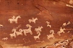 Petroglyphs antigos Foto de Stock