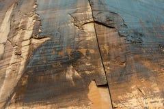 Petroglyphs antigos nas paredes de garganta do deserto de Moab Utá fotografia de stock royalty free