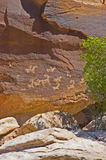 Petroglyphs at Arches National Park Royalty Free Stock Photo
