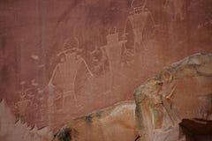 Petroglyphs av det Anasazi indianfolket Royaltyfri Foto