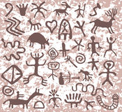 Vector petroglyphs Royalty Free Stock Image