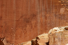 Petroglyphs of Capitol Reef Royalty Free Stock Photos