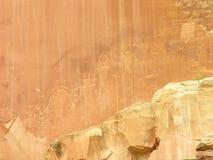 Petroglyphs at Capitol Reef National Park, Utah Stock Image