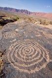 Petroglyphs da garganta de Anasazi Imagens de Stock