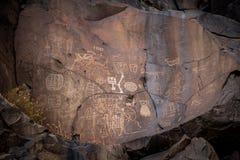 Petroglyphs de Coso foto de stock royalty free